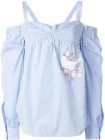 No.21 striped blouse - women - Cotton - 38