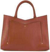 Sara Battaglia Plisse tote - women - Calf Leather - One Size