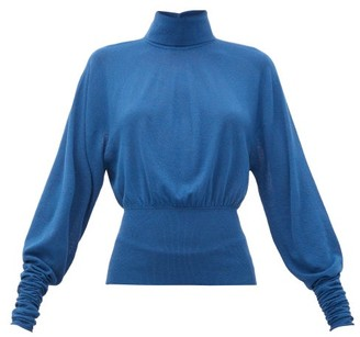 Lemaire Roll-neck Knitted Sweater - Womens - Blue