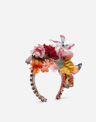 Dolce & Gabbana Headband With Chiffon And Organza Details