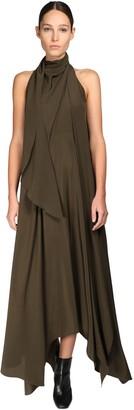 Petar Petrov Silk Satin Long Dress