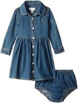 Ralph Lauren Cotton Denim Shirtdress Girl's Dress