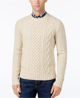 Tommy Hilfiger Men's Big & Tall Finn Cable-Knit Sweater