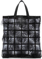 Noir Kei Ninomiya Black Organdy Flower Sheer Tote