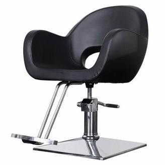 Ayda Leather Guest Chair Orren Ellis Seat Color: Black