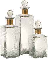 Hampshire Etched Decanters, Set of 3