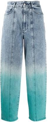 Stella McCartney Gradient Effect Straight-Leg Jeans