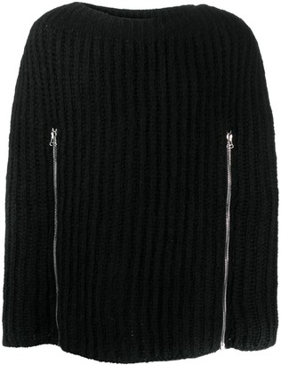 Raf Simons Zip Detail Knitted Jumper