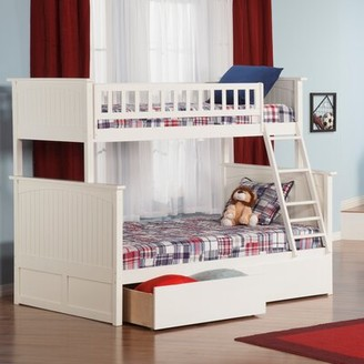 Viv + Rae Maryellen Bunk Bed with Drawers Size: Twin over Full, Bed Frame Color: White