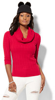New York & Co. Cable-Knit Cowl-Neck Sweater