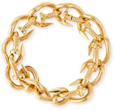 David Webb 18k Polished Nail Link Bangle Bracelet