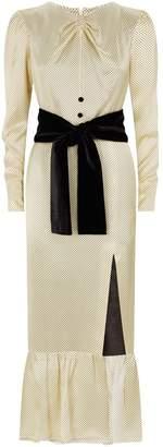 Raquel Diniz Teresa Polka Dot Silk Dress
