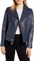 Derek Lam 10 Crosby Lambskin Leather Moto Jacket
