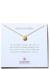 Dogeared One in a Million Pendant Necklace, 16