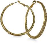 GUESS Gold-Tone Crystal Hoop Earrings