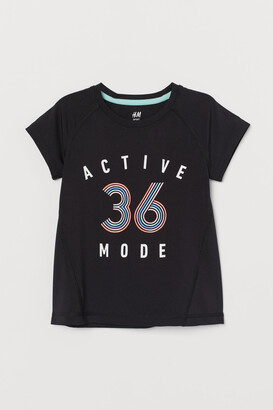 H&M Printed sports top