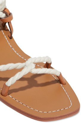 Zimmermann Rope And Leather Sandals