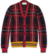 Gucci Checked Wool and Alpaca-Blend Cardigan