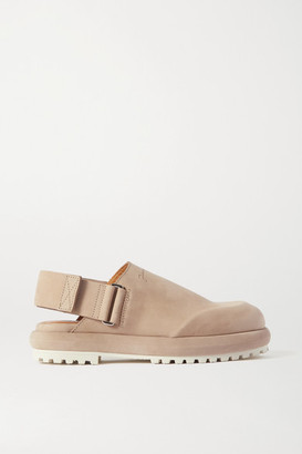 Jacquemus Suede Slingback Flats - Taupe