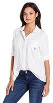 U.S. Polo Assn. Junior's Long Sleeve Hidden Placket Denim Shirt