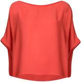 Peter Cohen - short sleeve draped top - women - Polyester - L