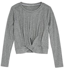 Aqua Girls' Twist Front Knit Top, Big Kid - 100% Exclusive