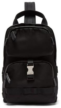 Prada Nylon Single-strap Cross-body Backpack - Black