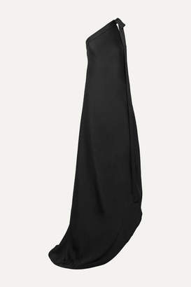 Cult Gaia Florence One-shoulder Satin Gown - Black