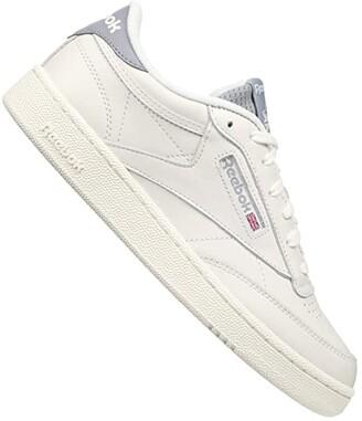 Reebok Club C 85 (Chalk/Cold Grey/Radiant Red) Men's Shoes
