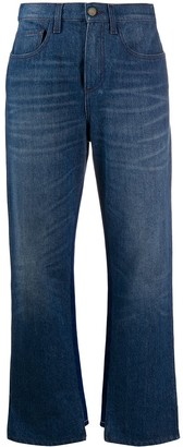 Marni Asymmetric Hem Two-Tone Jeans