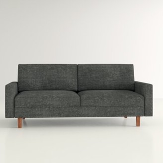 "Hashtag Home McKenly Modern 69.7"" Square Arm Sofa Upholstery: Dark Gray"