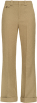 Chloé Low-rise wide-leg hound's-tooth trousers