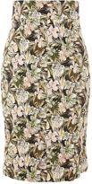 Topshop Floral Print Pencil Skirt