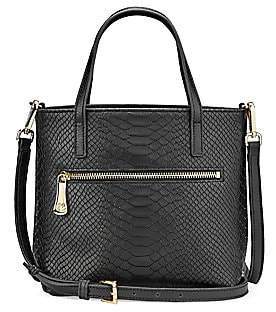 GiGi New York Women's Billie Python-Embossed Leather Crossbody Bag