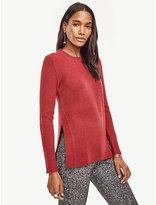 Ann Taylor Petite Ribbed Wool Cashmere Tunic Sweater