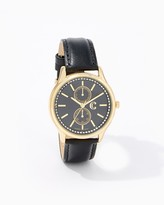 Charming charlie Double Chronograph Strap Watch