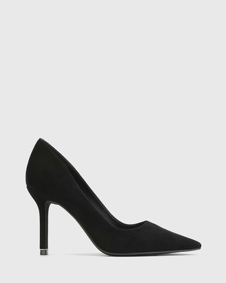 Wittner - Women's Black Stilettos - Quendra Suede Gold Trim Pointed Toe Pumps - Size One Size, 38 at The Iconic