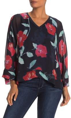 Go Silk Go by V-Neck Dolman Sleeve Silk Blouse