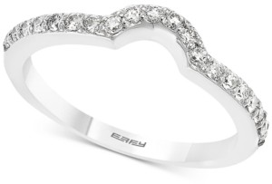 Effy Diamond Curved Wedding Band (1/4 ct. t.w.) in 14k White Gold