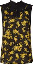 Biba Sleeveless printed victoriana blouse