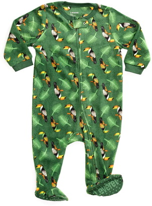Leveret Green Toucans Footed Fleece Sleeper