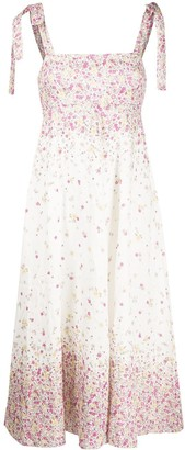 Zimmermann Floral Flared Midi Dress