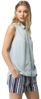 Tommy Hilfiger Final Sale- Fluid Chambray Sleeveless Shirt