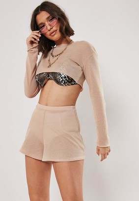 Missguided Petite Stone Co Ord Runner Shorts