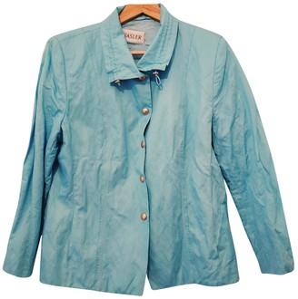 Basler Blue Cotton Jacket for Women