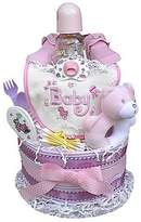 Baby Gift Idea 2 Tiered Girl's Diaper Cake