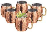 Oggi 6-pc. Hammered Copper Moscow Mule Mug Set