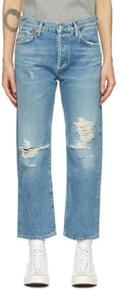 Citizens of Humanity Blue Emery High-Rise Crop Jeans