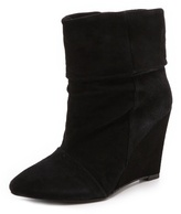 Dominique Suede Wedge Booties