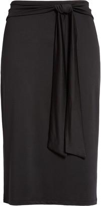 Halogen Tie Front Knit Skirt